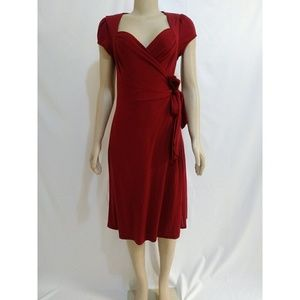 90's Vintage Retro Pin up Girl Wrap Dress
